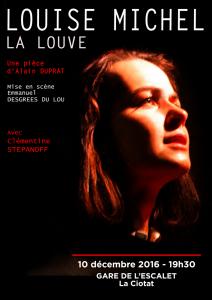 """Affiche """"Louise Michel, La Louve"""""""